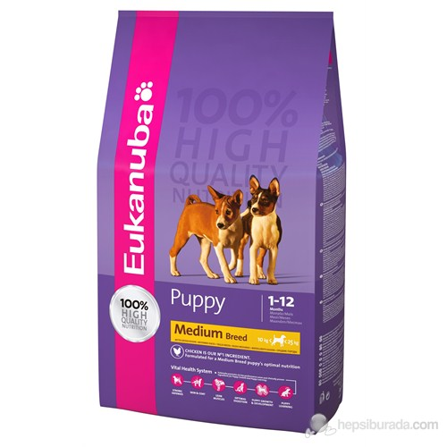 Eukanuba Puppy Medium Breed 3 Kg Yavru Köpek Maması