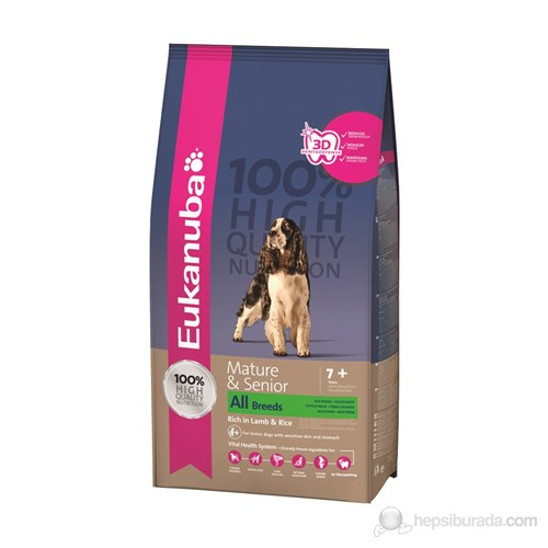 Eukanuba Mature & Senior All Breeds Lamb & Rice 2,5 Kg Köpek Maması