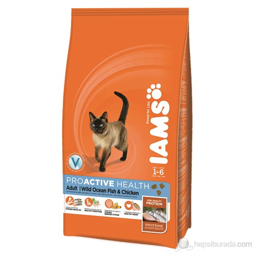 Iams Adult Ocean Fish & Chicken 1,5 Kg Kedi Maması