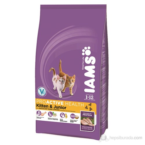 Iams Kitten & Junior Roast Chicken 2,55 Kg Kedi Maması