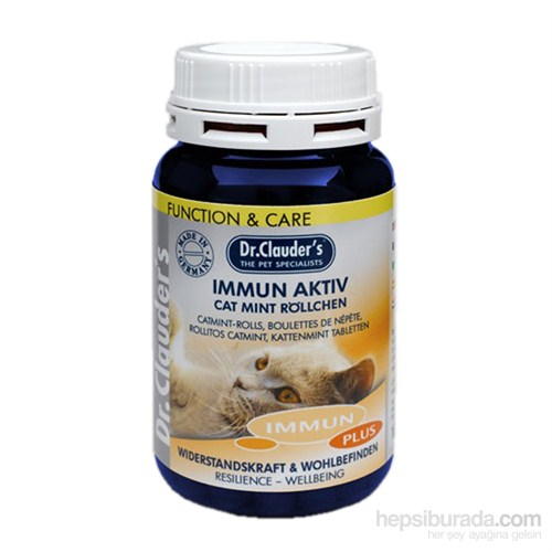 Dr. Clauder'S Kedi Bağışıklık Sistemi Güçlendirici Yaban Sümbülü Tabletleri (Bağışıklık Sistemi Desteği) - 100 Gr. (Dr-42017)