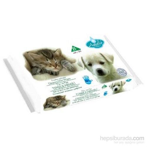 Aquella Kedi ve Köpekler için Tüy ve Patileri Temizleme Islak Mendili 25 Adet