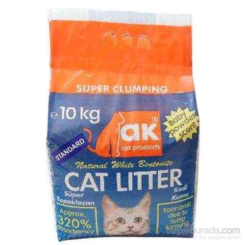 Akkum İnce Taneli Topaklaşan Kedi Kumu 10 Kg