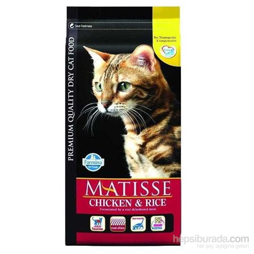 Matisse Chicken & Rice Tavuklu Pirinçli Kedi Maması 10kg