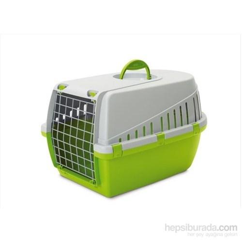 Savic Trotter 2 Kedi Köpek Taşıma Kabı Açık Gri/Limon Yeşili