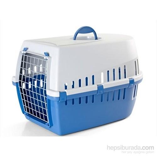 Savic Trotter 3 Kedi Köpek Taşıma Kabı Mavi/Açık Gri