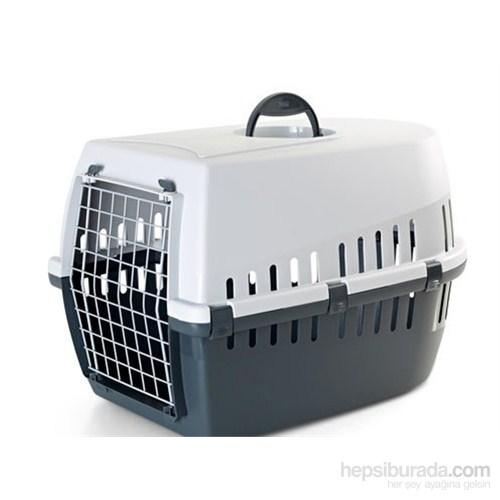 Savic Trotter 3 Kedi Köpek Taşıma Kabı Açık Gri/Koyu Gri