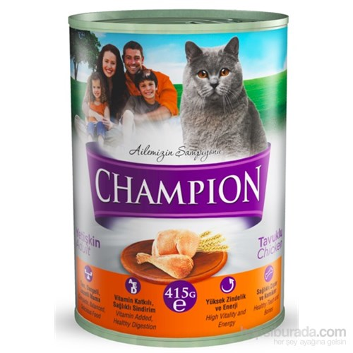 Champion Kümes Hayvanlı Yaş Kedi Konserve Maması 415 gr FD*