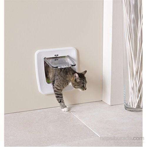 Savic Access 4 Way Upgradable Kedi Kapısı Beyaz (Cam Ölçüsü 17x17,5 cm)