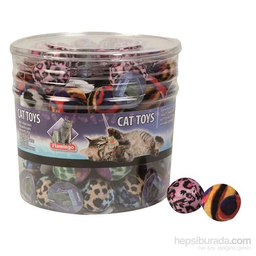 Karlie Sesli Kedi Oyun Topu (Kedi Otlu) Pembe 4 cm