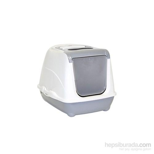 Moderna Flip Kapalı Kedi Tuvalet 50 Cm Gri