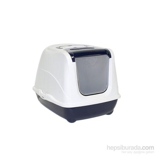 Moderna Flip Kapalı Kedi Tuvalet 50 Cm Lacivert