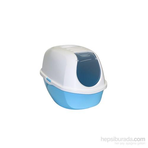 Moderna Smart Kapalı Kedi Tuvaleti 53 Cm Mavi