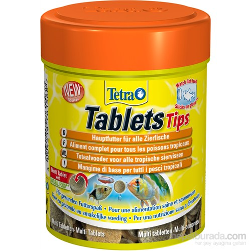 Tetra Tetra Tips Balık Yemi 72 Tablet