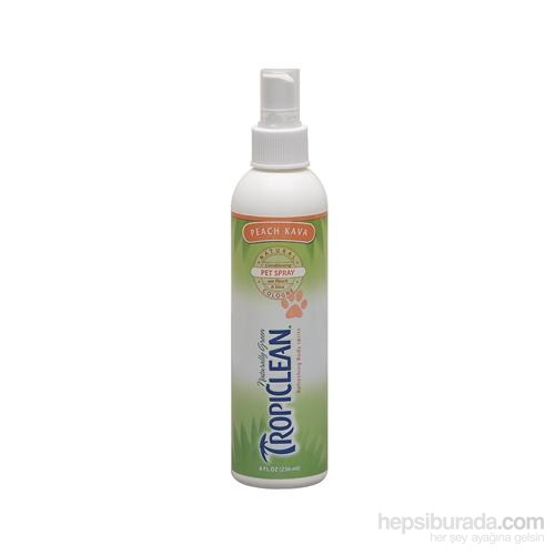 Tropiclean Natural Cologne Peach Kava Pet Spray 236 Ml