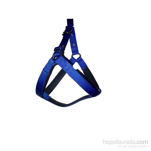 Pet Style Yumuşak Dokulu Köpek Göğüs Tasması Mavi No:3