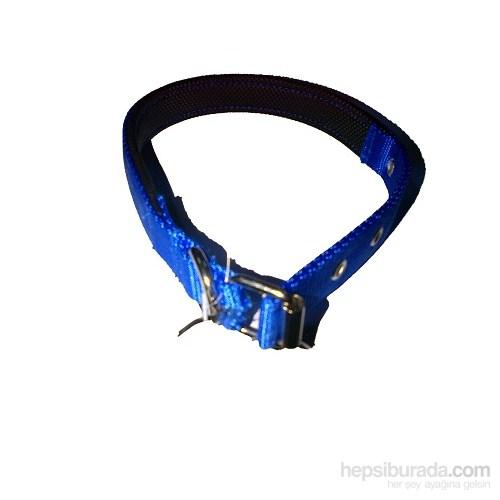 Pet Style Yumuşak Dokulu Mavi Köpek Boyun Tasması Mini 20 Mm X 34 - 43 Cm