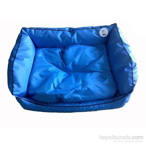 Pet Style Dış Mekan Bahçe Köpek Yatağı Mavi No:3 90 X 70 X 10 Cm