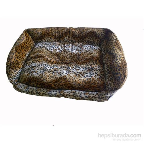 Pet Style Tay Tüyü Köpek Yatağı Leopar No:2 75 X 55 X 10 Cm