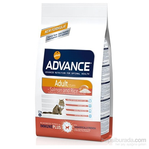 Advance Yetişkin Somonlu Pirinçli Kuru Kedi Maması 1,5 Kg