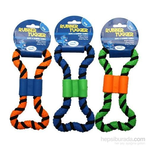 Happy Pet 0163 Rubber Tugger Small Mavi 19X5,5Cm