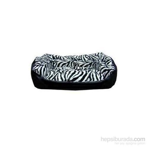 Pet Style Deri Köpek Yatağı Zebra Desenli No:4