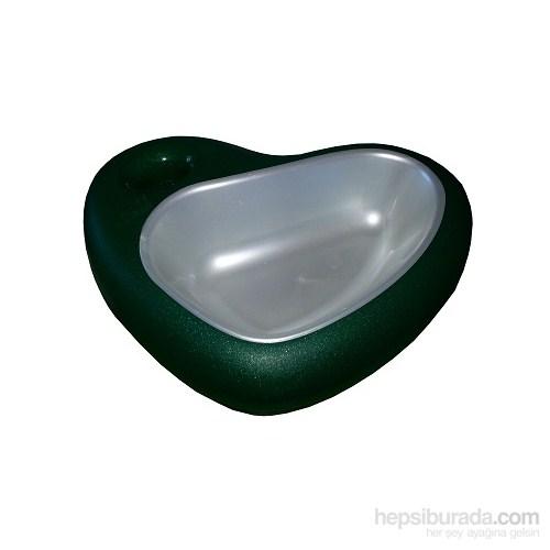 Mio Kedi Ve Köpekler İçin Kalp Şeklinde Mama Kabı 29 X 22 X 6.5Cm Yeşil