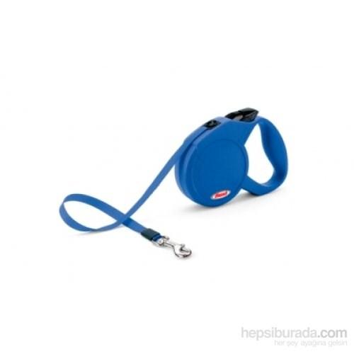 Flexi Classic Compact 3 Mavi Otomatik Şerit 5 Mt Gezdirme Tasması