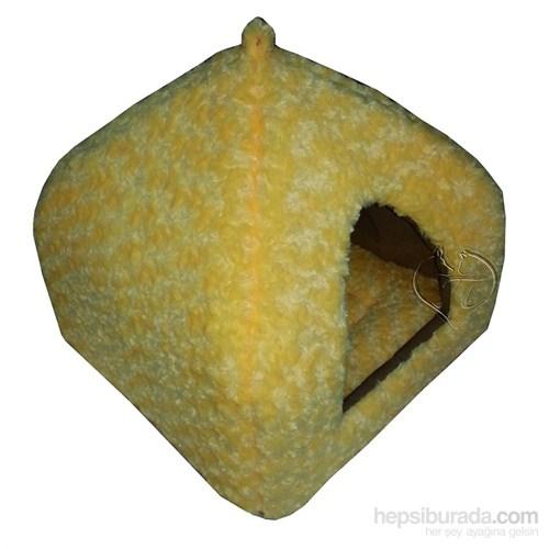 Pet Pretty Kedi Ve Küçük Irk Köpekler İçin Piramit Yuva Yatak Sarı 45 X 45 X 40Cm