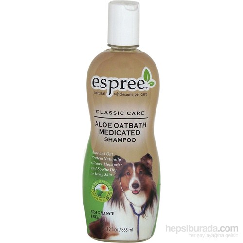 Espree Aloe Oatbath Medicated Shampoo Kedi Ve Köpek Şampuanı 355 Ml