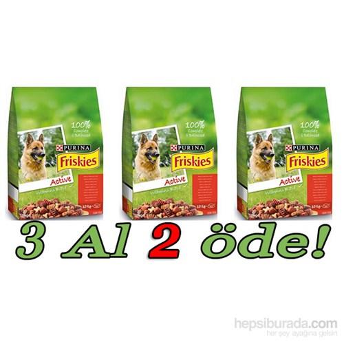 Friskies Active Etli Yetişkin Köpek Maması 3 Al 2 Öde! 3 X 10 Kg