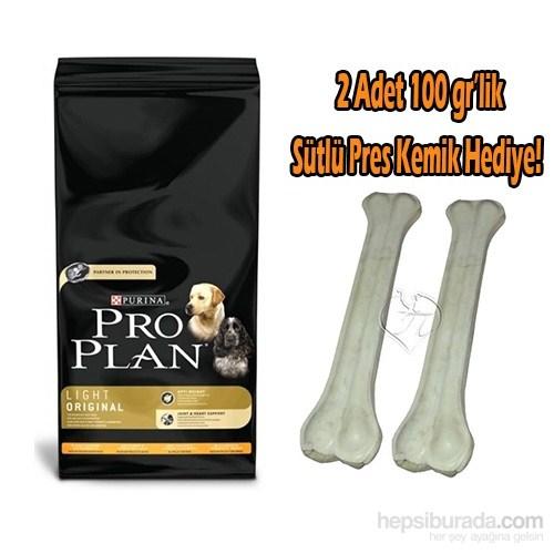 Pro Plan Light Düşük Kalorili Yetişkin Köpek Maması 14 Kg 2 Adet 100 Gr´Lik Sütlü Pres Kemik Hediye!
