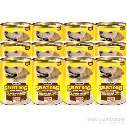 Patimax 12'li Parça Tavuk ve Hindi Etli Komple Köpek Konservesi 400 gr