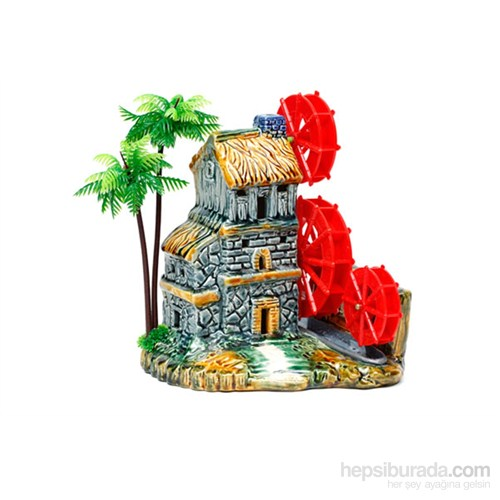 Akvaryum Dekor Üç Değirmenli Ev