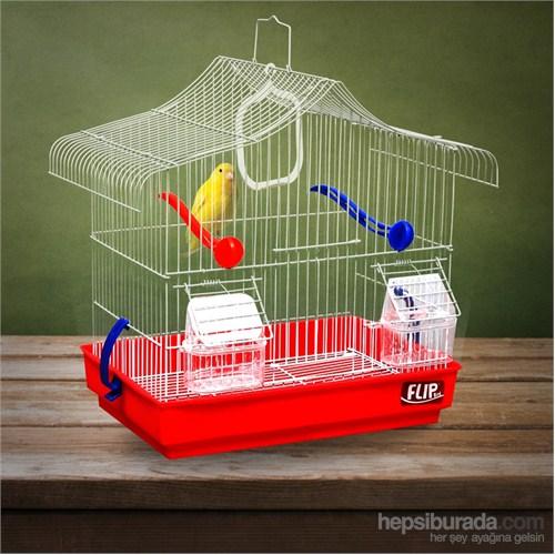 Flip Kıvrık Çatı Kafes Kırmızı 33,5*22,5*36Cm