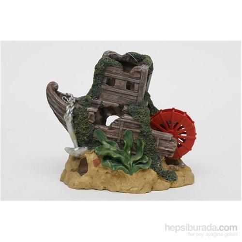 Akvaryum Dekor Gemi Çarklı Dekor