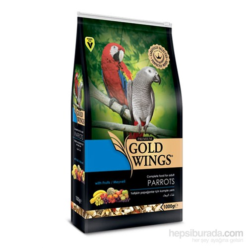 Gold Wings Premium Papağan Yemi 1 Kg