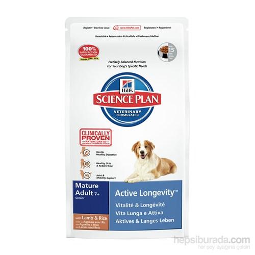 Hill's Science Plan Kuzu Etli Orta Irk Yaşlı Köpek Maması 3 Kg (Mature Adult 7 + Active Longevity Medium with Lamb & Rice)