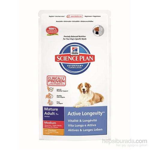 Hill's Science Plan Tavuklu Orta Irk Yaşlı Köpek Maması 3 Kg (Mature Adult 7 + Active Longevity Medium with Chicken)