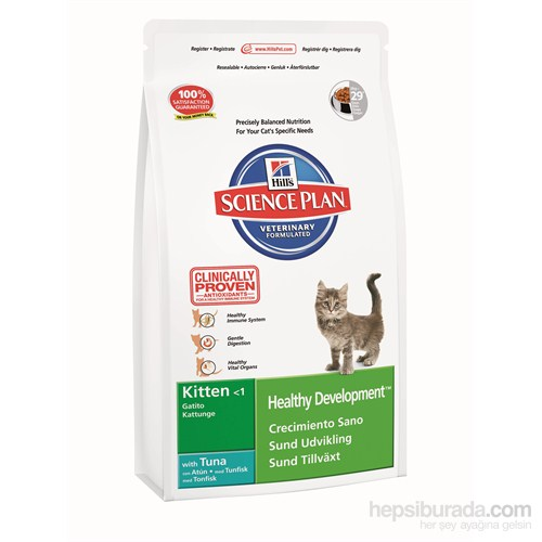 Hill's Science Plan Ton Balıklı Yavru Kedi Maması 2 Kg (Kitten Healthy Development with Tuna)