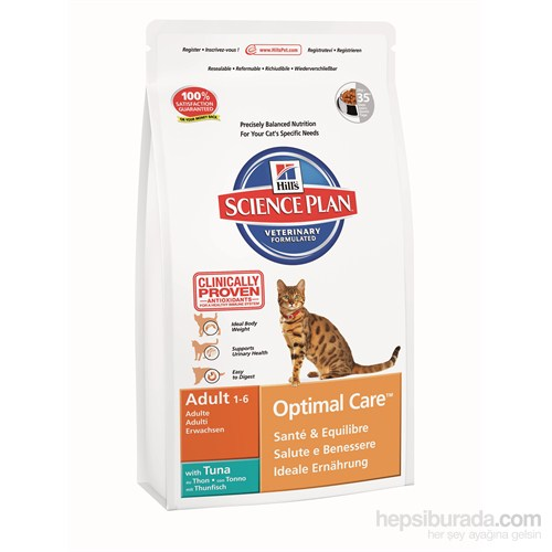 Hill's Science Plan Ton Balıklı Yetişkin Kedi Maması 2 Kg (Adult Optimal Care with Tuna) gk