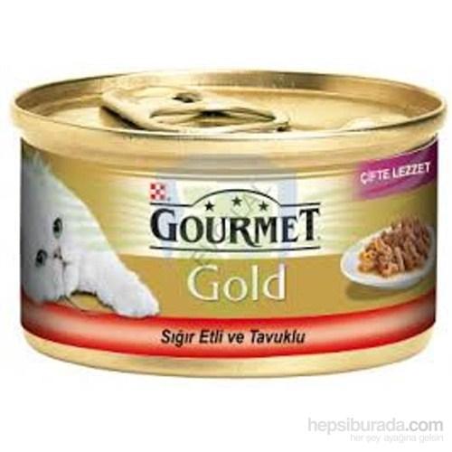 Purina Gourmet Gold Sığır Etli,Tavuklu Konserve Mama 85 gr