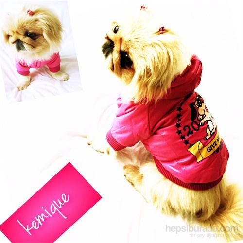 Kemique Gıve Me Treats Köpek Montu - Pembe