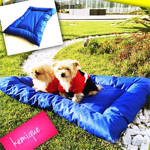 Kemique 2X-Large Dış Mekan Köpek Minderi - Mavi