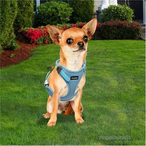 Outdoor Ergonomik Yansıtıcılı Köpek Göğüs Tasması M Mavi