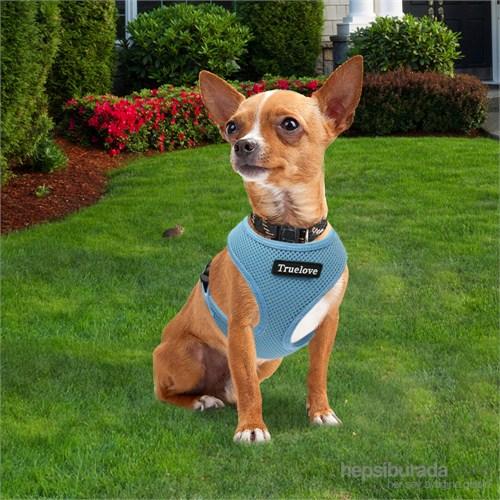 Standart Model Yansıtıcılı Küçük Köpek Göğüs Tasması M Mavi