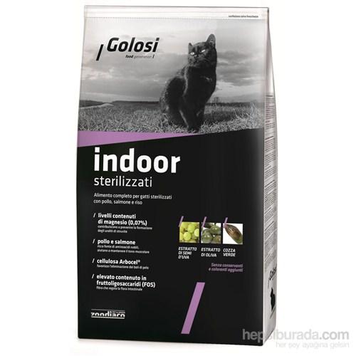 Golosi Cat Indoor Ev Kedileri İçin Somon Balıklı Ve Pirinçli Kedi Maması 1,5 Kg