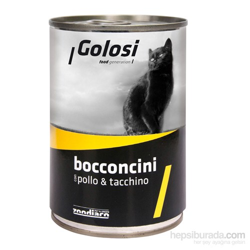 Golosi Chunks / Bocconcini Cat Tavuk ve Hindi Etli Kedi Konservesi 400 Gr