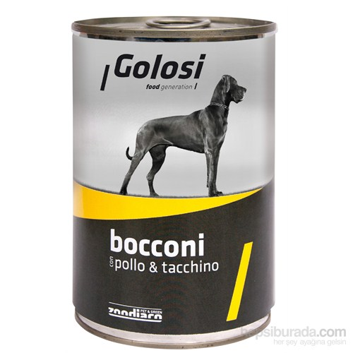 Golosi Chunks / Bocconi Dog Tavuk ve Hindi Etli Köpek Konservesi 400 Gr