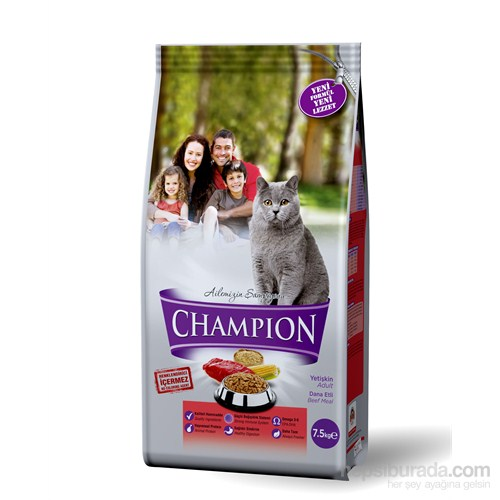 Champion Dana Etli Yetişkin Kedi Maması 7,5 Kg